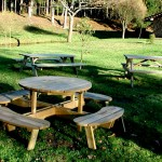 garden wood tables